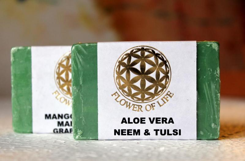 Flower of Life - Natural Aloe vera Neem and Tulsi Soap