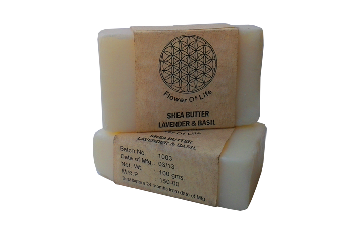 Shea Butter with pure Lavendar & Basil Essential Oil Blend
